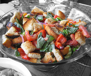 Summer essentials panzanella salad and herb scissors Barefoot contessa panzanella