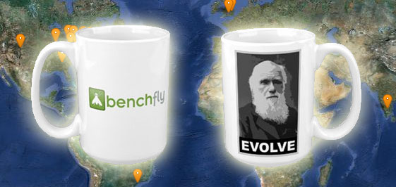 BenchFly Mugs Around the World