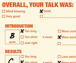 The Scientific Talk Report Card