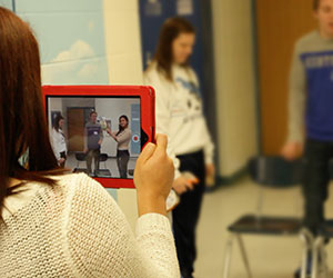 Students practicing the ART of Video